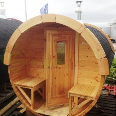 Sauna Barril 3.5 con vestuario