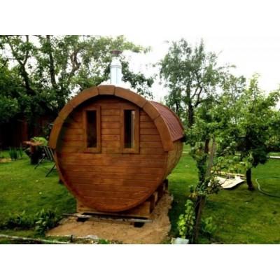 Sauna Barril 3.5 Plus con vestuario