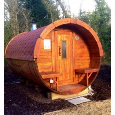 Sauna Barril 4.0 con vestuario
